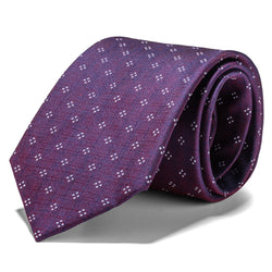Purple and White Mini Geometric Tie