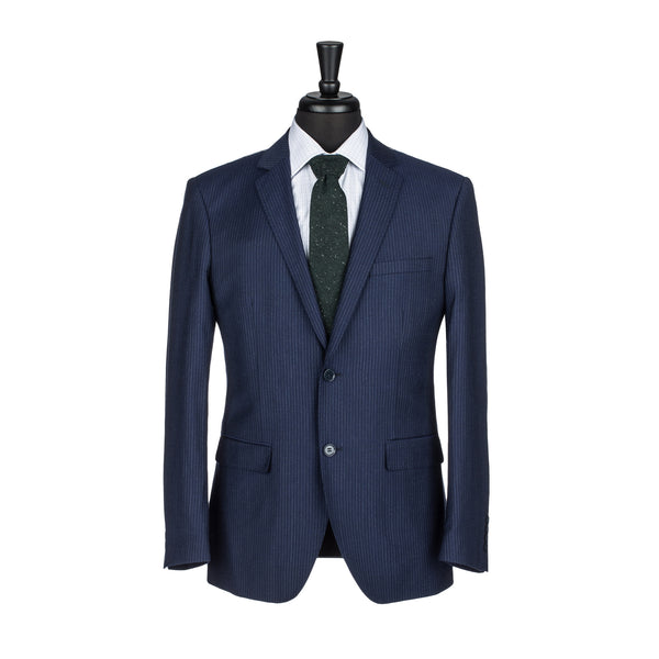 Navy Chalkstripe Slim Fit Suit Jacket