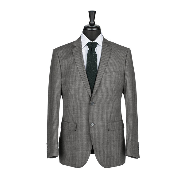 Grey Chalkstripe Slim Fit Suit Jacket