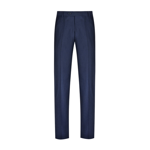 Navy Chalkstripe Slim Fit Suit Pant
