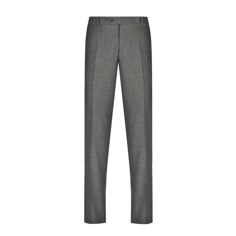 Grey Chalkstripe Slim Fit Suit Pant