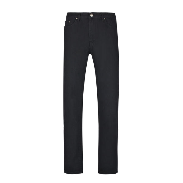 Black Slim Straight Stretch Denim