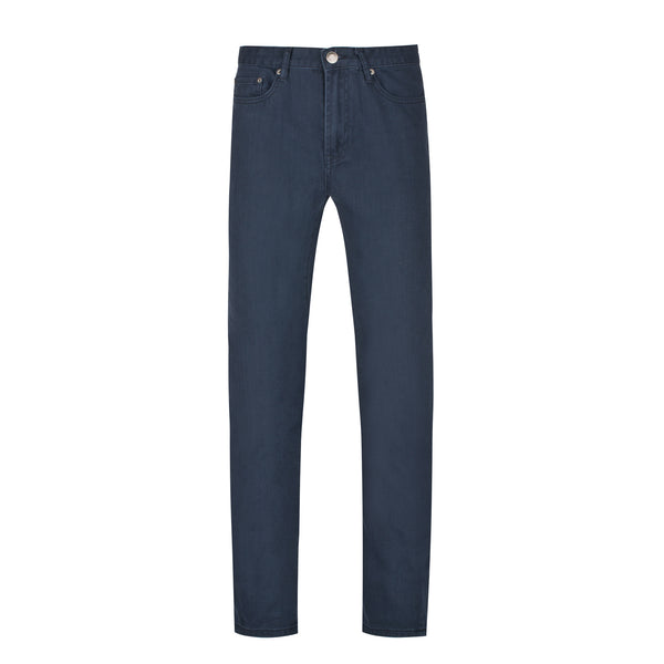 Navy Slim Straight Stretch Denim