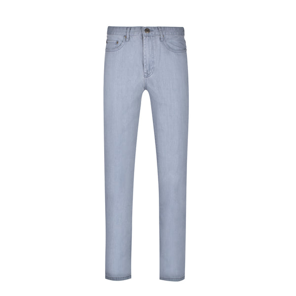 Sky Blue Slim Straight Stretch Denim