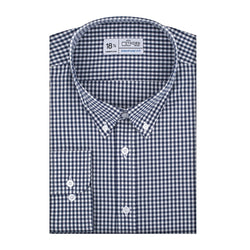 Navy Plaid Stretch Signature Fit Button-Down Collar Shirt