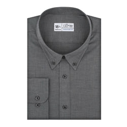 Black Mini Nailhead Stretch Signature Fit Button-Down Collar Shirt