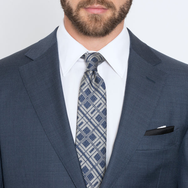 Slate Blue Twill Tailored Fit Suit