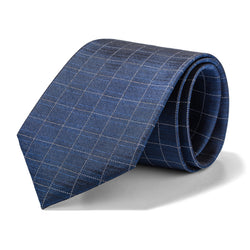 Navy and White Grid Tie