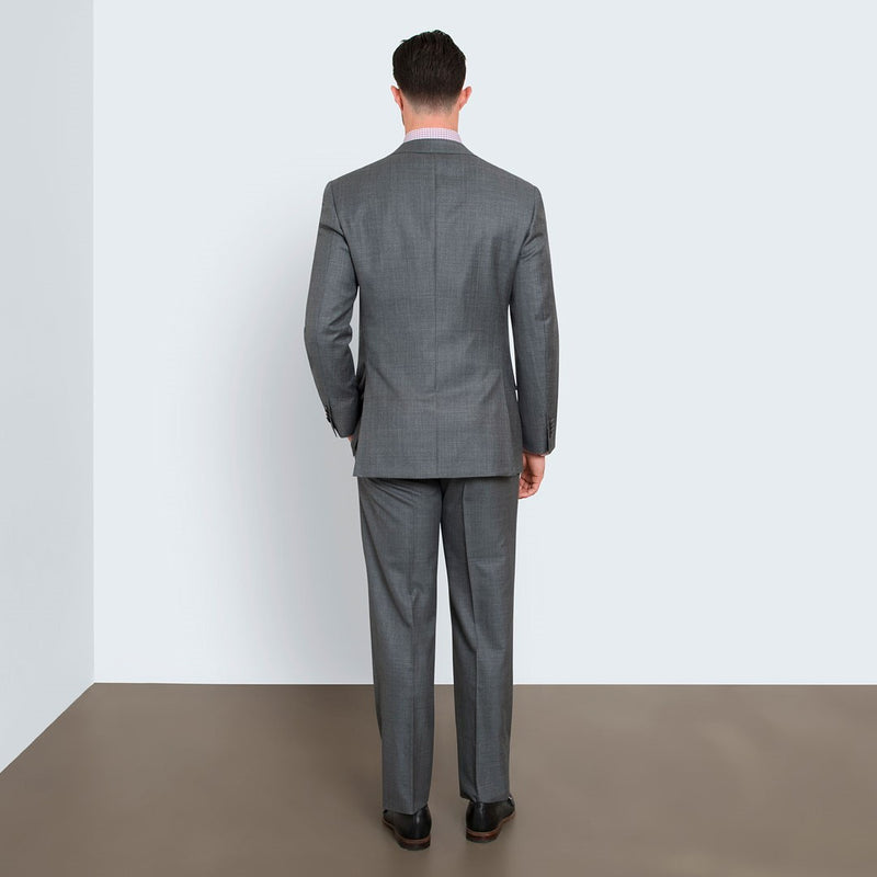 Grey Sharkskin Tailored Fit Suit