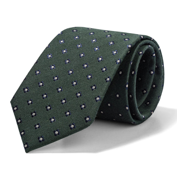 Olive Green Mini Boxes Tie