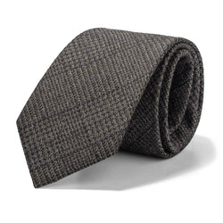 Brown and Charcoal Glen Plaid Tie