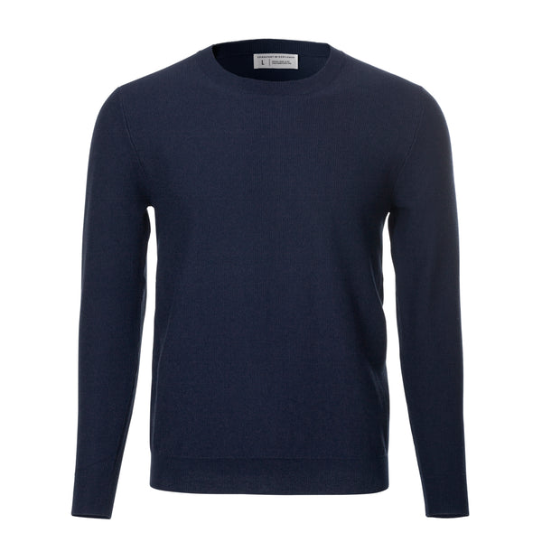 Navy Long Sleeve Crewneck Sweater