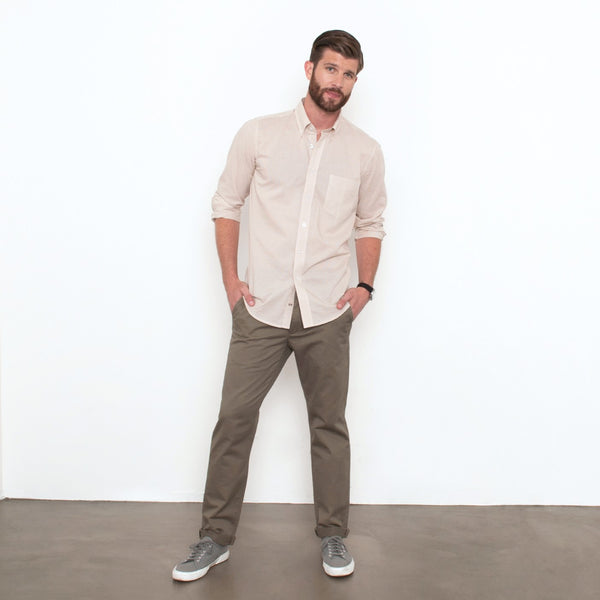Olive Slim Straight Stretch Chino Pant