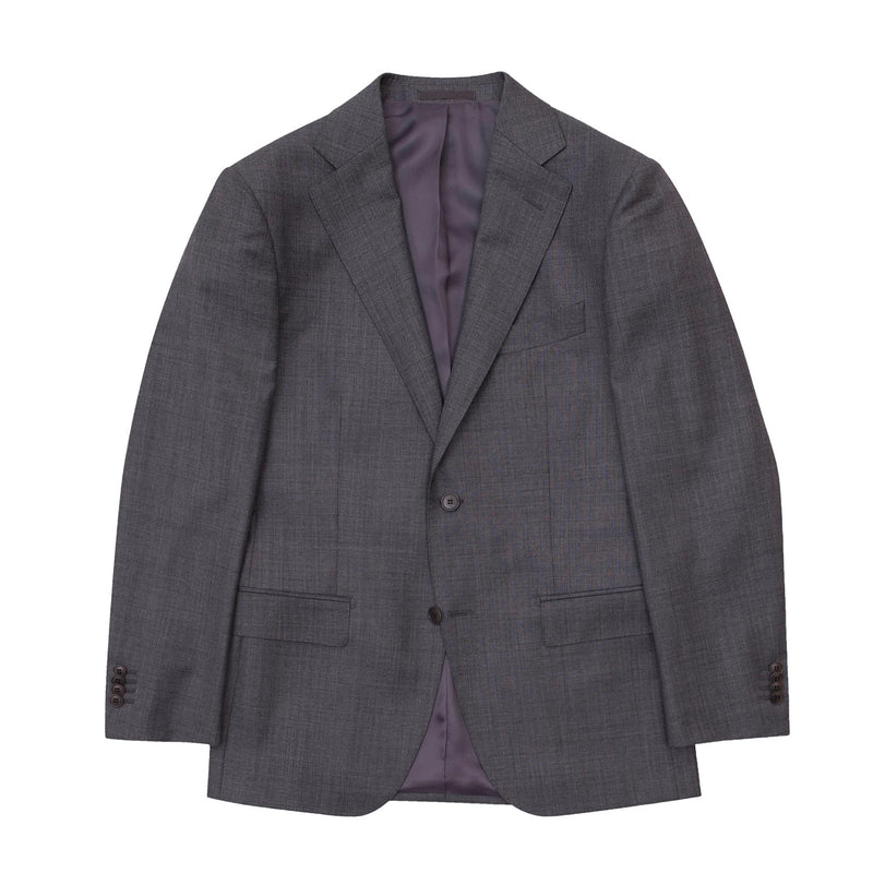 Grey Sharkskin Tailored Fit Suit Jacket