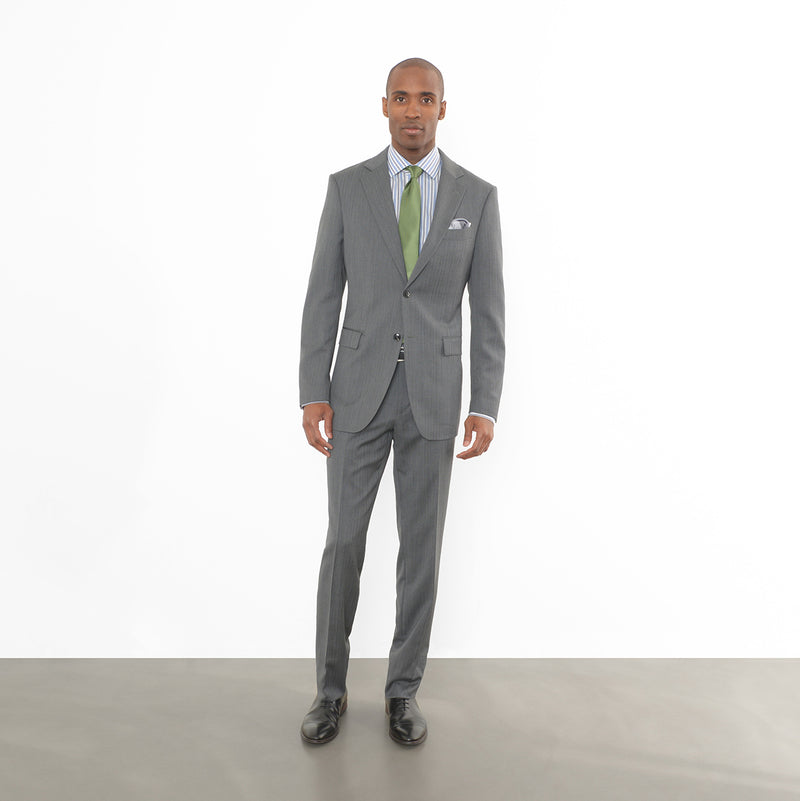 Charcoal Herringbone Tailored Fit Suit