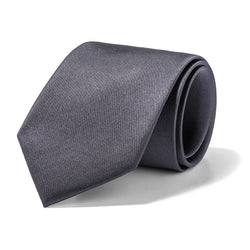 Solid Charcoal Tie
