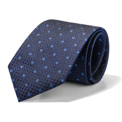 Light Blue on Navy Geo Dots Tie