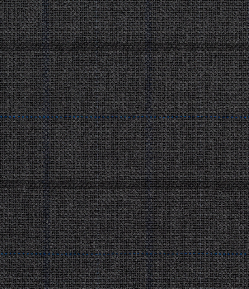 Charcoal and Blue Double Windowpane