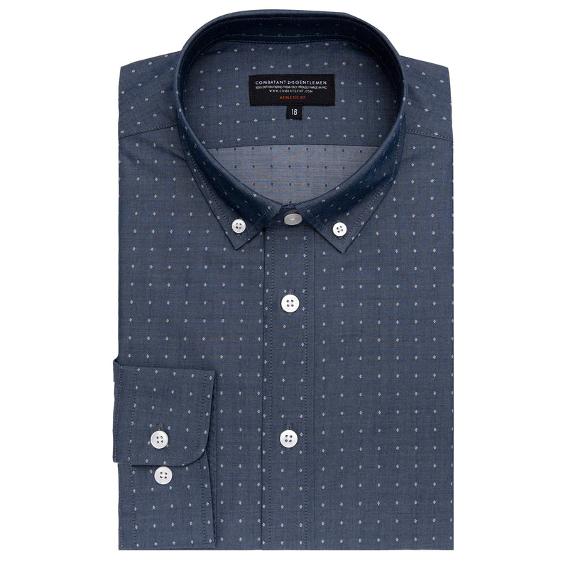 Diamond Indigo Chambray Athletic Fit Button-Down Collar Shirt