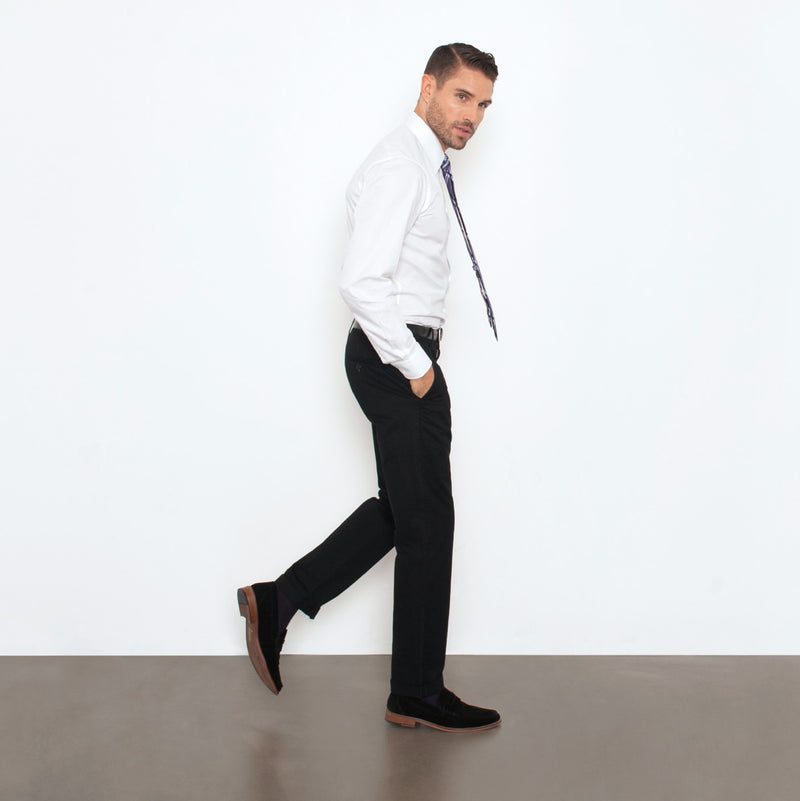 Black Straight Stretch Chino Pant