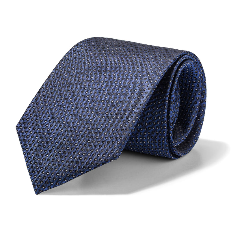 Slate Blue Mini Spheres Tie