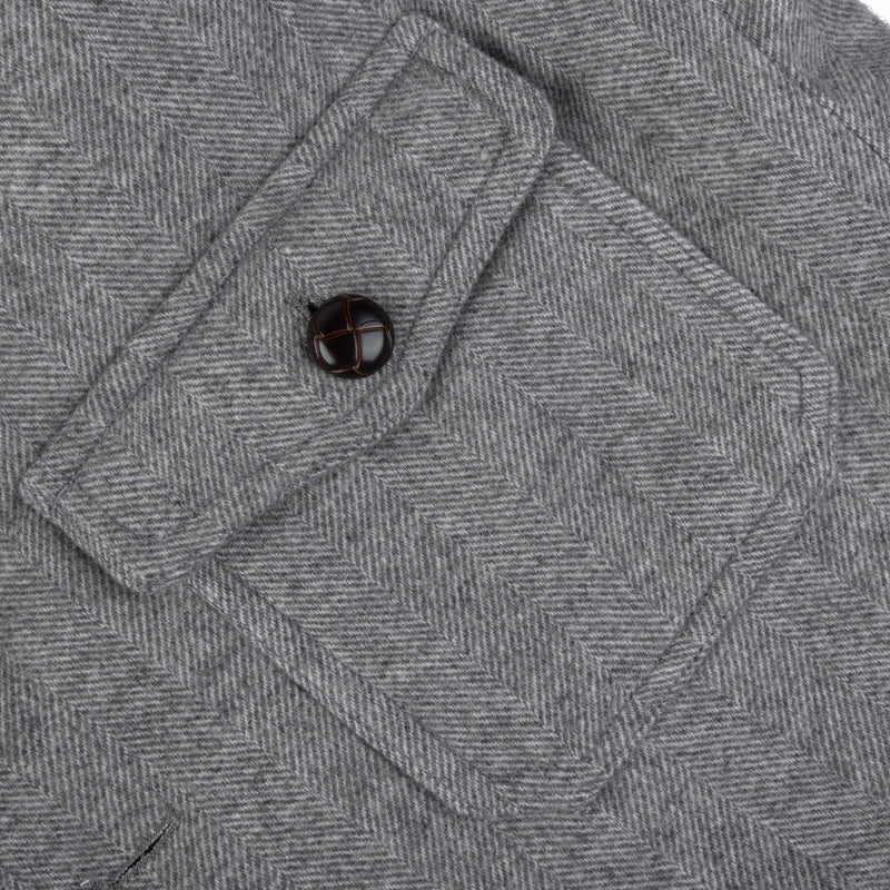 Charcoal Wool Shawl Collar Bomber