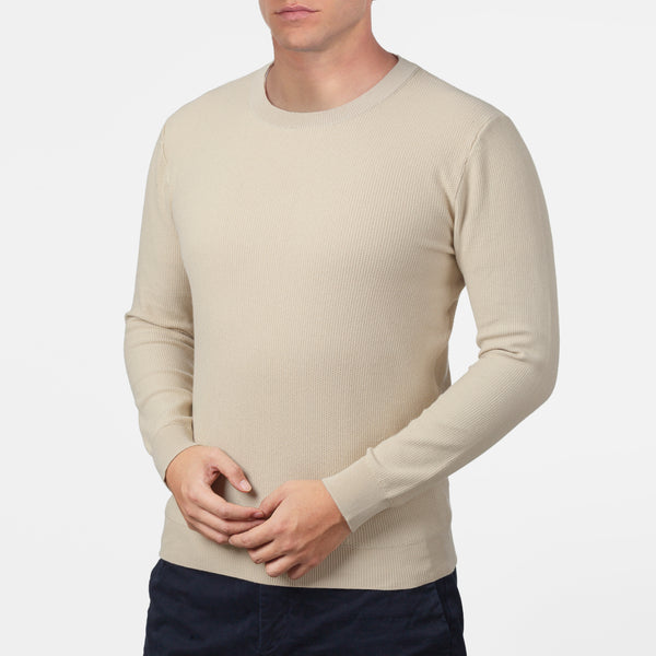 Ivory Long Sleeve Crewneck Sweater