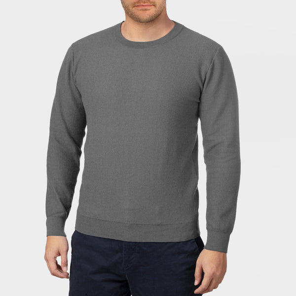 Charcoal Long Sleeve Crewneck Sweater
