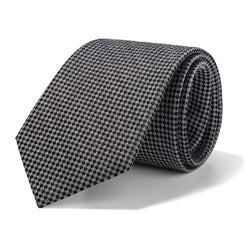 Grey and Black Mini Houndstooth Tie