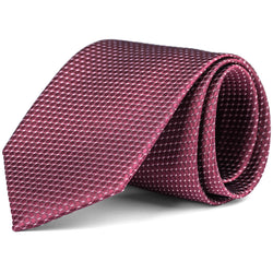 Burgundy Mini Pattern Tie