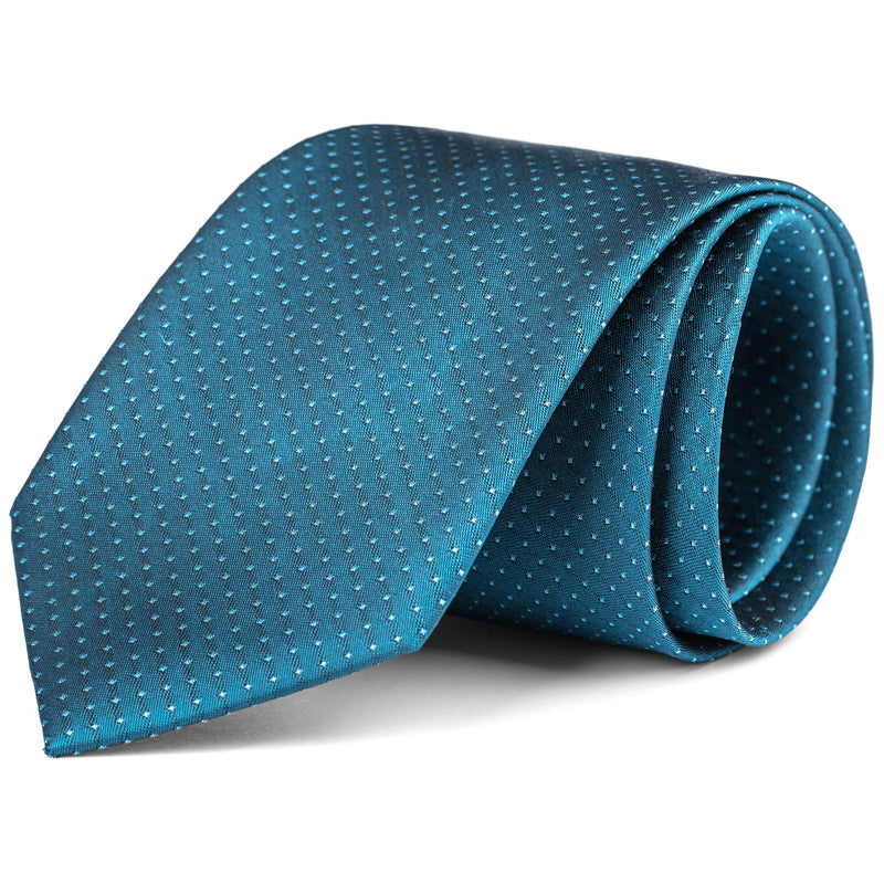 Teal Tonal Mini Dot Tie