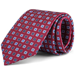 Red and Blue Mini Box Tie