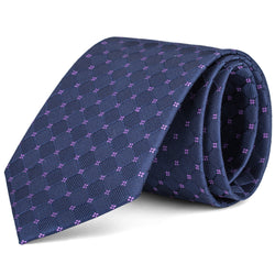Navy and Purple Tonal Box Tie