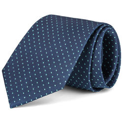 Navy and Green Mini Dot Tie