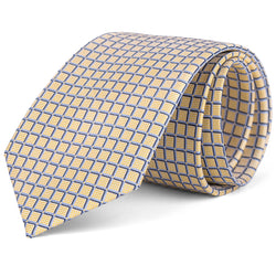 Yellow and Grey Grid Tie