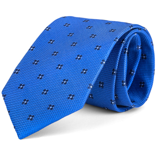 Royal Blue Mini Foulard Tie