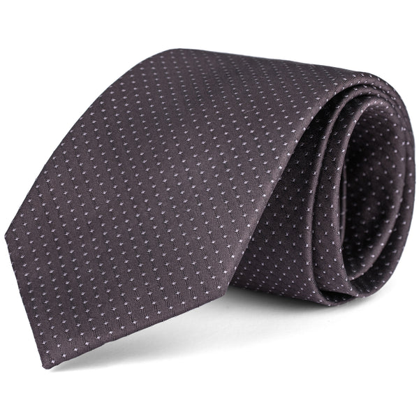 Steel Grey and White Mini Dot Tie