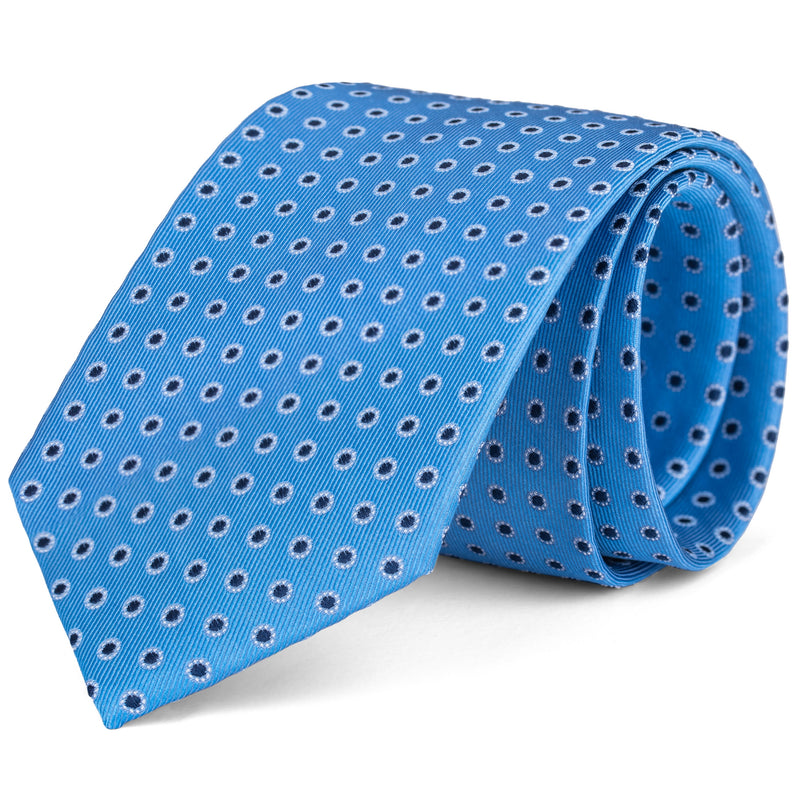 Navy and Light Blue Polka Dot Tie
