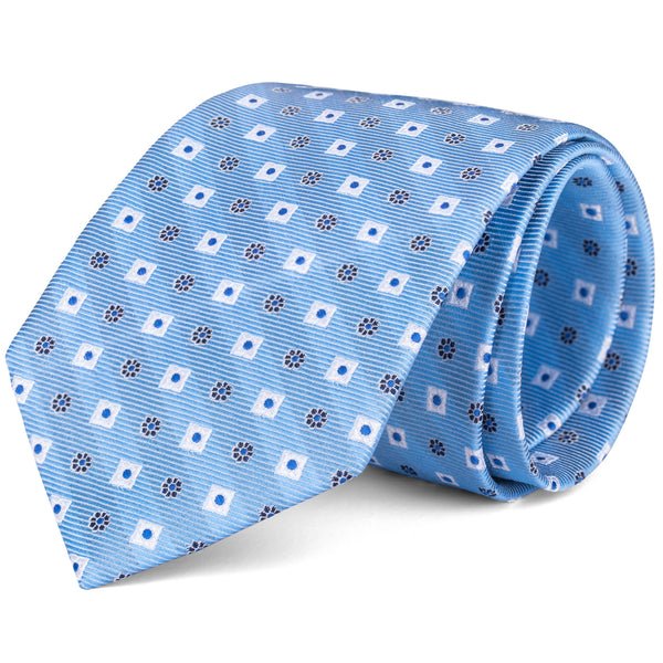 Light Blue Geometric Tie