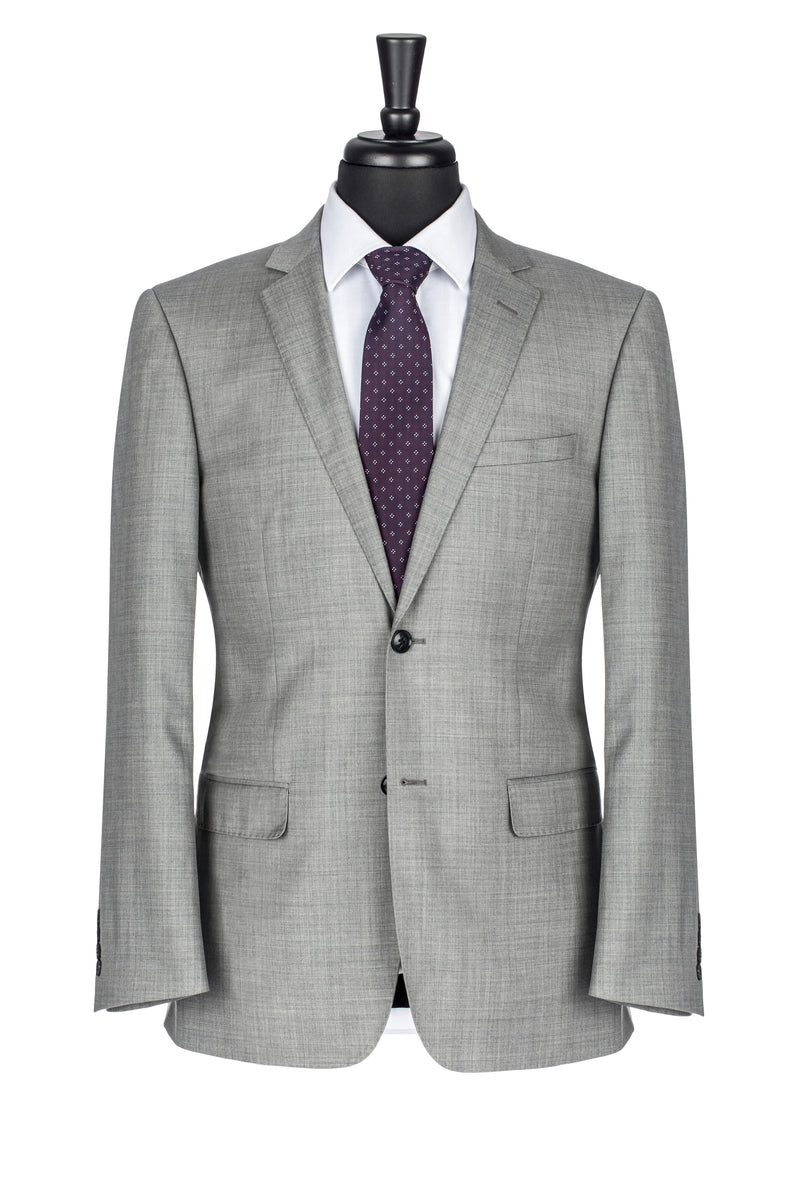 Grey NanoStretch Slim Fit Suit Jacket