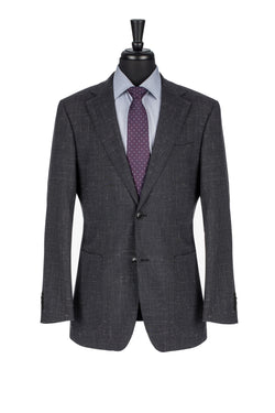 Black Linen Tailored Fit Blazer