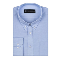 Blue Oxford Athletic Fit Button-Down Collar Shirt