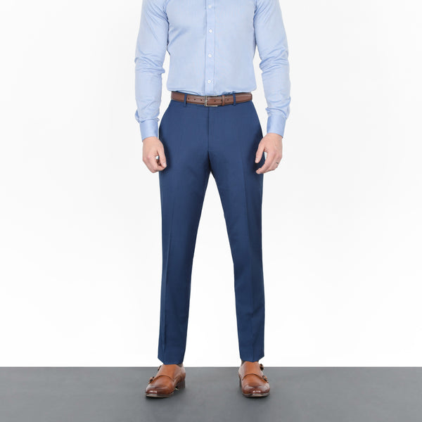 Royal Blue Mini Windowpane Workhorse Pants