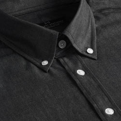 Dark Grey Chambray Athletic Fit Button-Down Collar Shirt