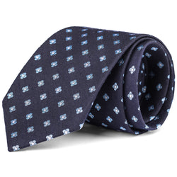 Navy and Light Blue Mini Foulard Tie