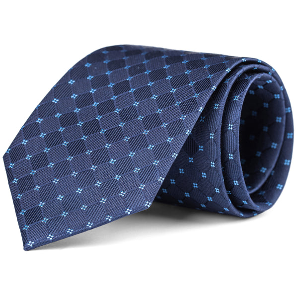 Navy and Light Blue Tonal Box Tie