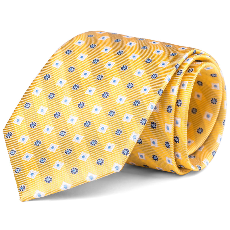 Yellow Geometric Tie