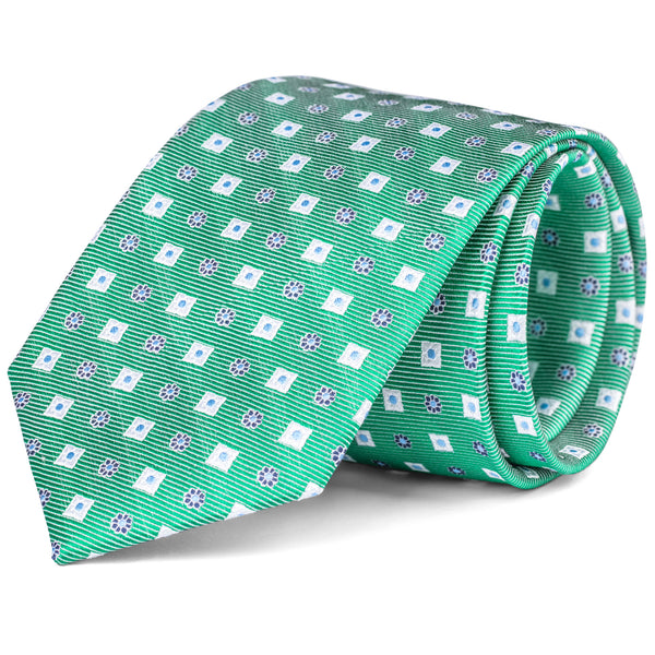 Sea Green Geometric Tie