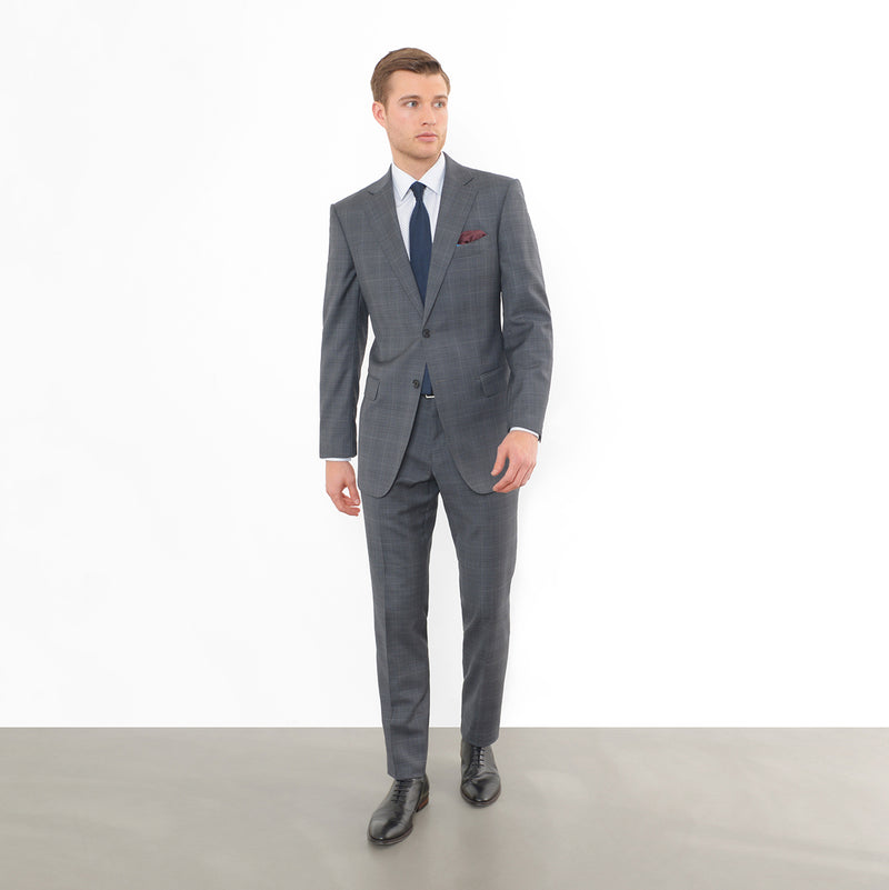 Charcoal Glen Plaid Tailored Fit Suit