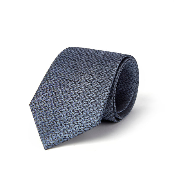 Charcoal With Outlined Contrasted Herringbone Tie